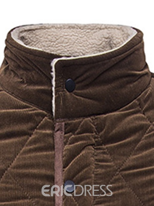 Ericdress Plain Stand Collar Single-Breasted Mens Down Jacket