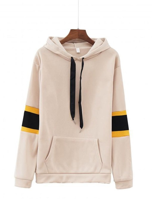 Ericdress Patchwork Color Block Standard Long Sleeve Hoodie
