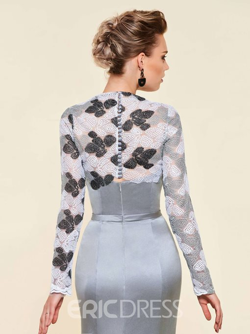 Ericdress Mermaid Lace Long Sleeves Mother of the Bride Dress 2019