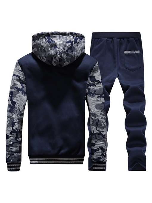 Ericdress Camouflage Patchwork Mens Cashmere Lining Winter Outfit