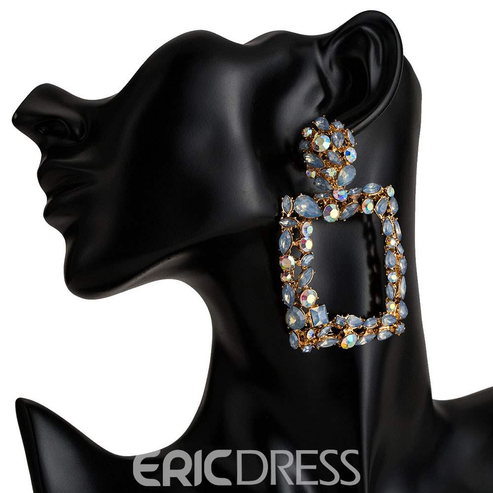 Ericdress Geometric Bohemian Diamante Earrings