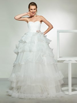 Ericdress Ruffles Floor-Length A-Line Ball Wedding Dress