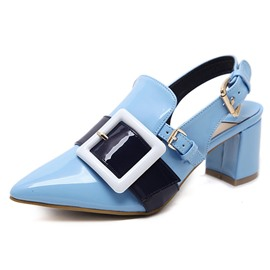 Ericdress Color Block Slingback Strap Pointed Toe Women's Sandals