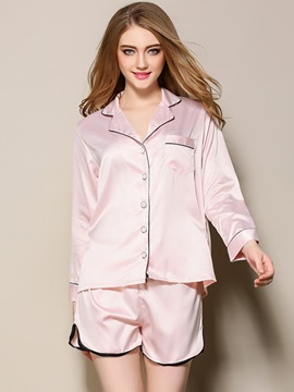Ericdress Button Pocket Long Sleeve Women's Pajama Set