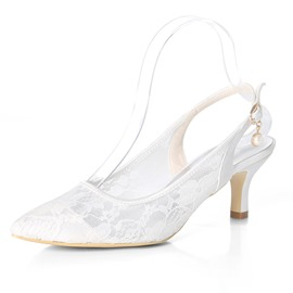 Ericdress Buckle Slingback Strap Pointed Toe Wedding Shoes