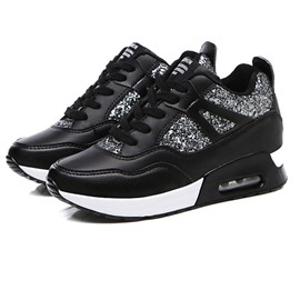 Ericdress PU Sequin Round Toe Women's Sneakers