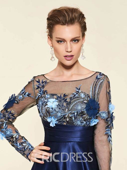 Ericdress 3D Floral Long Sleeve Mother Of The Bride Dress
