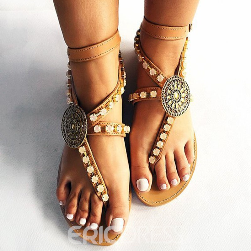 Ericdress Strappy Thong Women's Flat Sandals