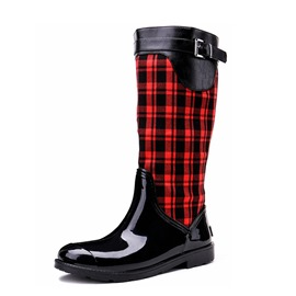 Ericdress Block Heel Round Toe Side Zipper Women's Hunter Boots