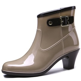 Ericdress Slip-On Round Toe Chunky Heel Women's Ankle Boots