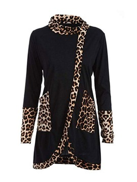 Ericdress Long Sleeve Mid-Length Leopard Slim Fall T-Shirt