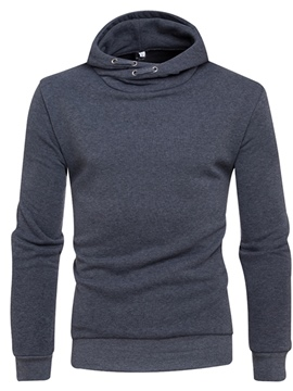 Ericdress Plain Hooded Pullover Mens Hoodies