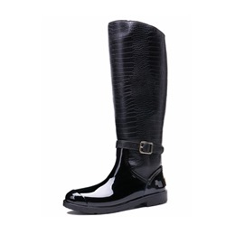Ericdress Block Heel Patchwork Round Toe Women's Hunter Boots