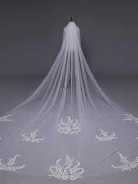 Ericdress Two-Layers Appliques Wedding Veil