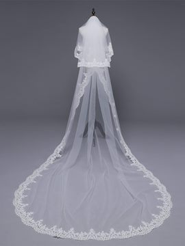 Ericdress Appliques Cathedral Two-Layer Wedding Veil