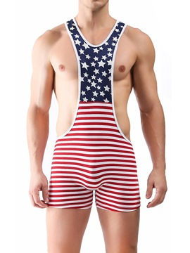 ericdress raya color block star sexy body para hombres