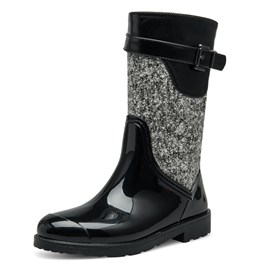 Ericdress Side Zipper Plain Block Heel Women's Hunter Boots