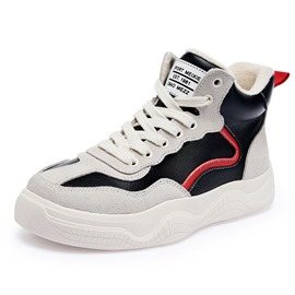Ericdress Round Toe High-Cut Upper Color Block Women's Sneakers