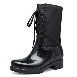 Ericdress Plain Back Zip Round Toe Women's Hunter Boots
