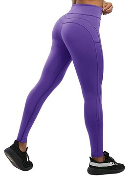 Ericdress Polyester Breathable Solid Ankle Length Leggings Yoga Pants High Waist Tiktok Leggings