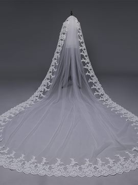 Ericdress Applique Edge One-Layer Cathedral Wedding Veil