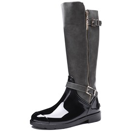 Ericdress Patchwork Side Zipper Block Heel Women's Hunter Boots