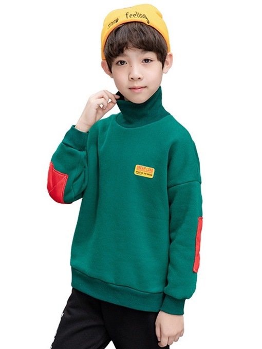 Ericdress High Neck Casual Boy's Hoodie