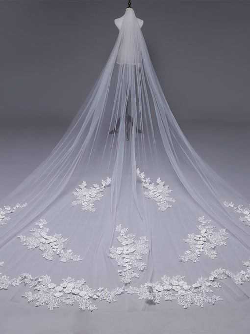 Ericdress Appliques One-Layer Wedding Veil