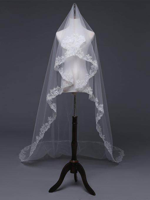 Ericdress Applique Edge Cathedral Wedding Veil