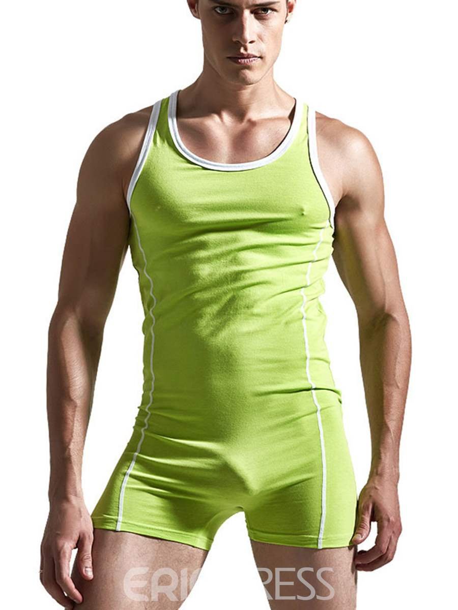 Ericdress Plain Cotton Sleeveless Men's Bodysuit
