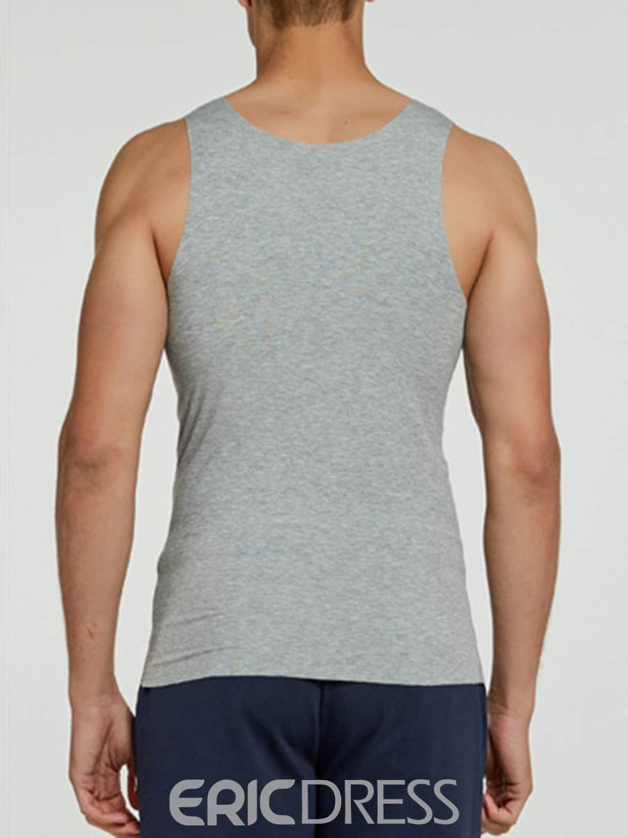 Ericdress Seamless Round Neck Tight Men's Vest