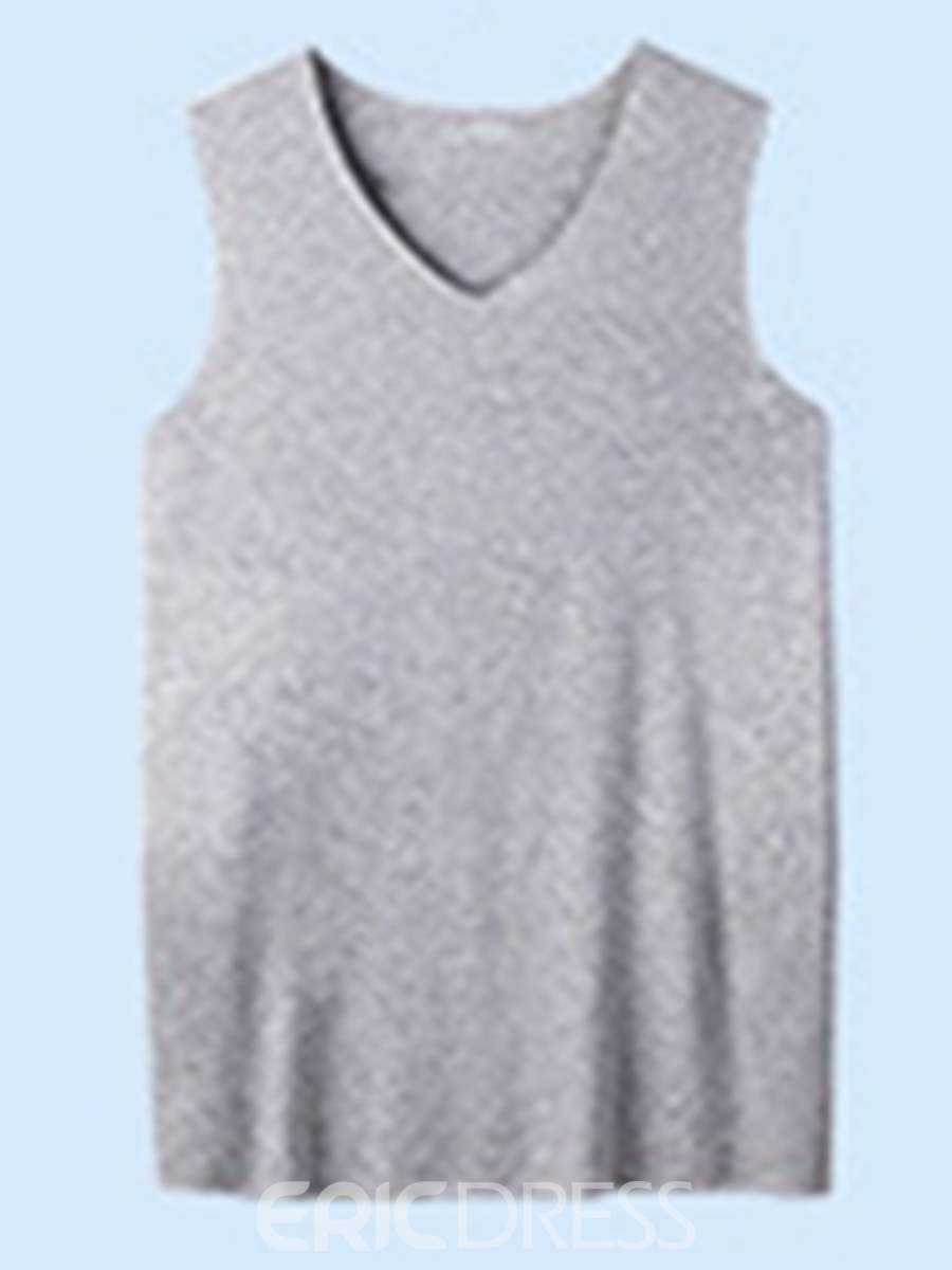 Ericdress Seamless V-neck Tight Men's Vest