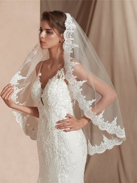 Ericdress Applique Edge Elbow One-Layer Bridal Veil