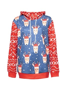 Ericdress Regular Print Cartoon Winter Long Sleeve Hoodie