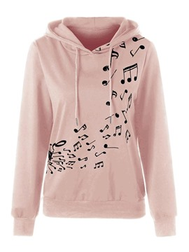 Ericdress Regular Print Hooded Long Sleeve Hoodie