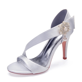 Ericdress Rhinestone Slip-On Stiletto Heel Women's Wedding Shoes