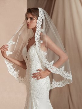 Ericdress Appliques Elbow One-Layer Wedding Veil