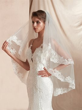 Ericdress Bead One-Layer Elbow Wedding Veil