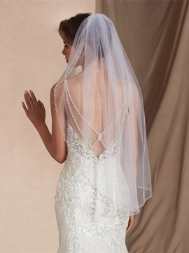 Ericdress One-Layer Bead Edge Bead Elbow Wedding Veil