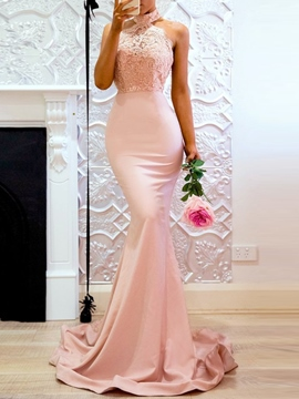 Ericdress Floor-Length Sleeveless Lace Spring Mermaid Dress