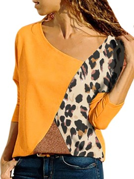 Ericdress Color Block Standard Long Sleeve Fall Loose T-Shirt