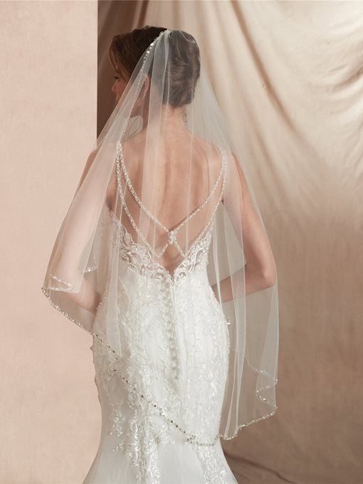Ericdress Bead Elbow One-Layer Wedding Veil