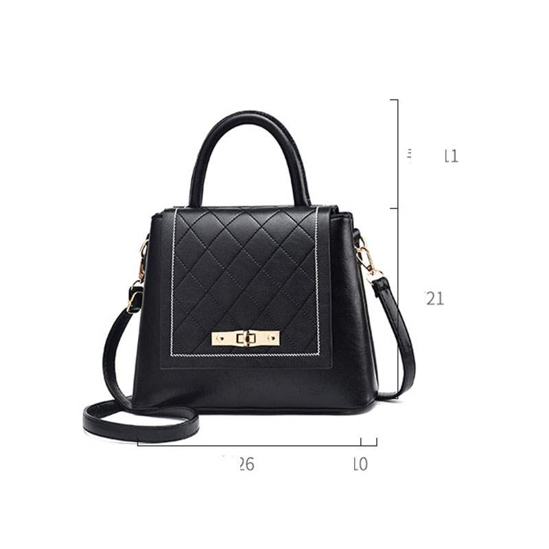 Ericdress PU Quilted Lining Plaid Square Tote Bags