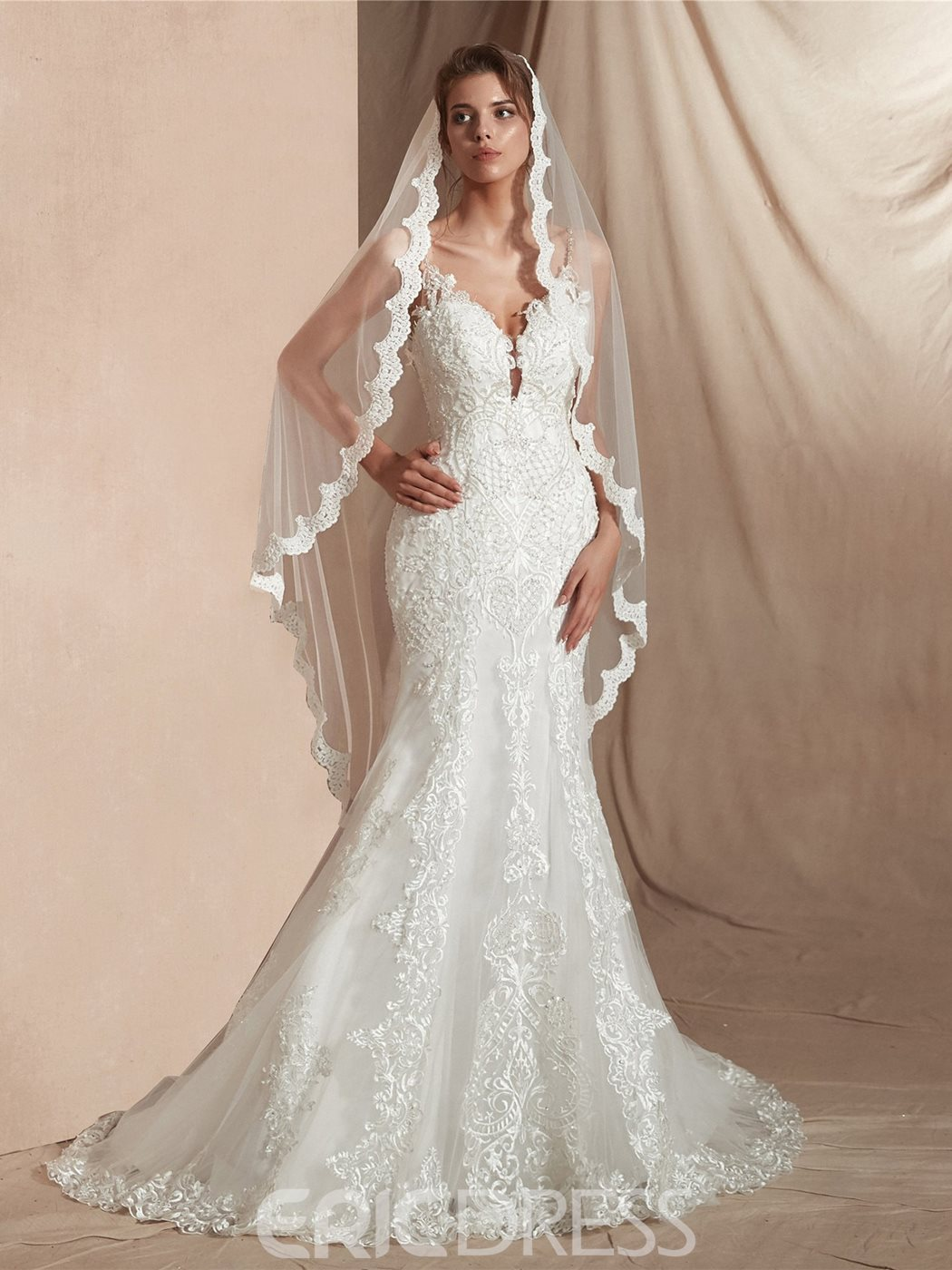 Ericdress Appliques One-Layer Applique Bridal Veils