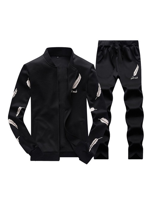 Ericdress Feather Printed Mens Casual Sports Outfit