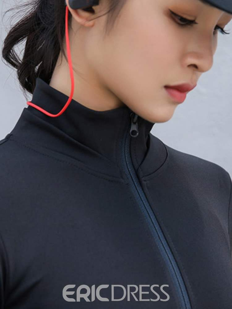 Ericdress Breathable Solid Long Sleeve Running Tops