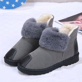 Ericdress Slip-On Plain Round Toe Women's Snow Boots