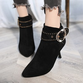 Ericdress Rivet Side Zipper Stiletto Heel Women's Boots