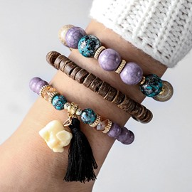 Ericdress Elephant Ethnic Beads Bracelet