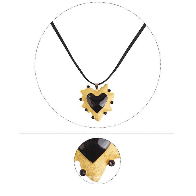 Ericdress New Style Black Love Necklace